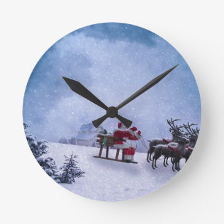 Christmas Gifts Round Clock