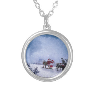 Christmas Gifts Silver Plated Necklace