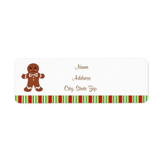 Christmas Gingerbread Address Labels