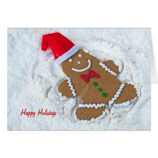 Christmas Gingerbread Angel Card