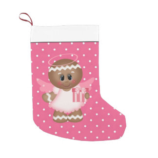 Christmas Gingerbread Angel cartoon stocking