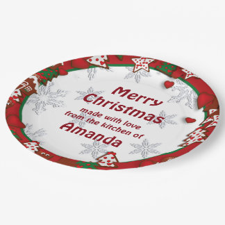 Christmas Gingerbread Cookie Gift Paper Plates 9 Inch Paper Plate