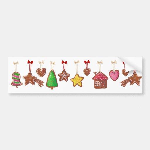 Christmas Gingerbread Cookies Bumper Sticker