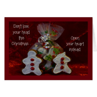 Christmas Gingerbread Cookies Holiday Card