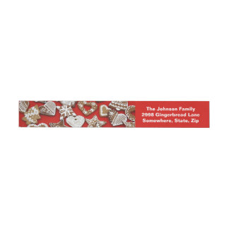 Christmas Gingerbread Cookies Wrap Address Labels