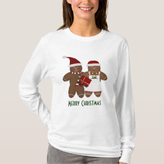 Christmas Gingerbread Couple Tshirt