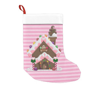 Christmas Gingerbread Holiday cartoon stocking