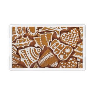 Christmas Gingerbread Holiday Cookies Acrylic Tray