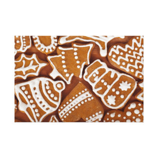 Christmas Gingerbread Holiday Cookies Canvas Print