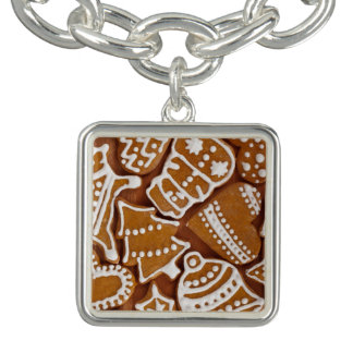 Christmas Gingerbread Holiday Cookies Charm Bracelets