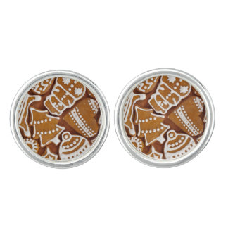 Christmas Gingerbread Holiday Cookies Cuff Links