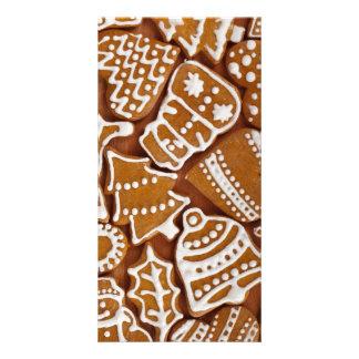 Christmas Gingerbread Holiday Cookies Custom Photo Card