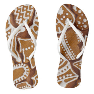 Christmas Gingerbread Holiday Cookies Flip Flops