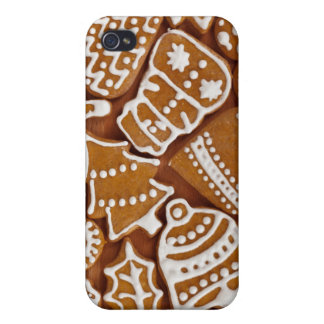 Christmas Gingerbread Holiday Cookies iPhone 4 Cover