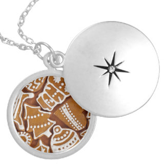 Christmas Gingerbread Holiday Cookies Locket Necklace