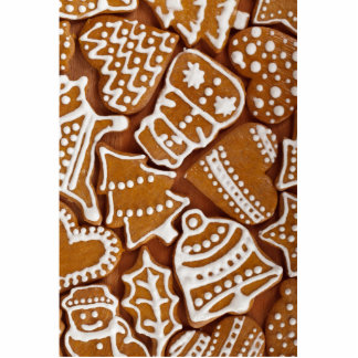 Christmas Gingerbread Holiday Cookies Photo Sculpture Button