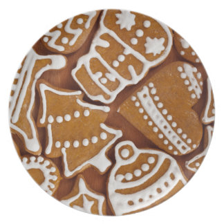 Christmas Gingerbread Holiday Cookies Plate