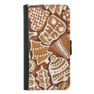 Christmas Gingerbread Holiday Cookies Samsung Galaxy S5 Wallet Case
