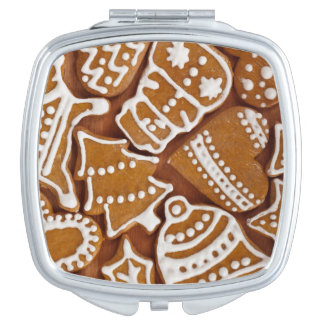 Christmas Gingerbread Holiday Cookies Travel Mirror