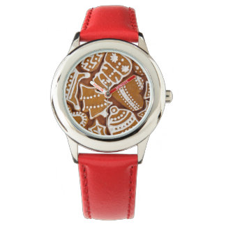 Christmas Gingerbread Holiday Cookies Wrist Watch
