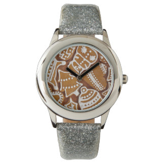 Christmas Gingerbread Holiday Cookies Wrist Watches