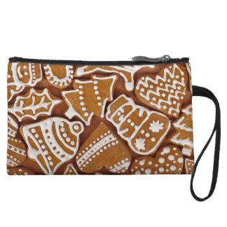 Christmas Gingerbread Holiday Cookies Wristlet