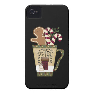 Christmas Gingerbread Holiday Greetings Case-Mate iPhone 4 Cases