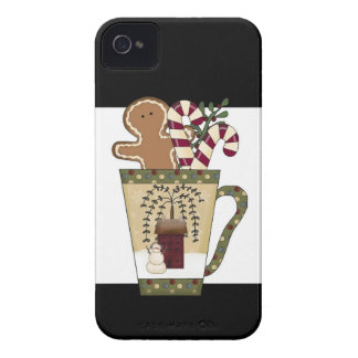 Christmas Gingerbread Holiday Greetings iPhone 4 Case-Mate Case