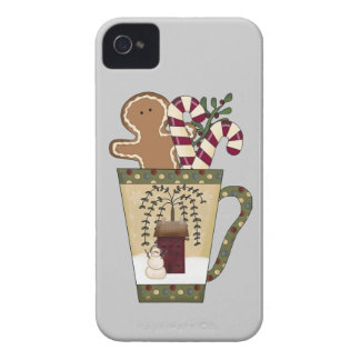 Christmas Gingerbread Holiday Greetings iPhone 4 Cases