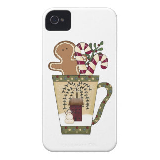 Christmas Gingerbread Holiday Greetings iPhone 4 Covers