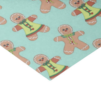 Christmas Gingerbread Holiday pattern tissue paper