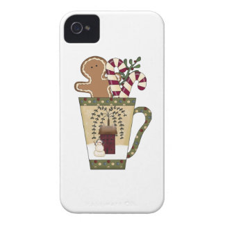 Christmas Gingerbread Holidays iPhone 4 Case-Mate Case