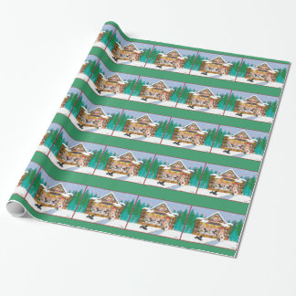 Christmas Gingerbread House Poodles Wrapping Paper