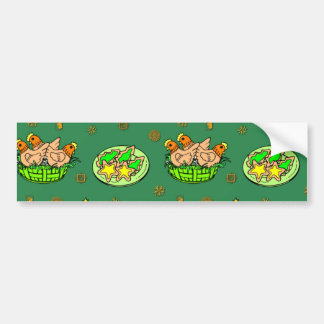 Christmas – Gingerbread Houses & Frosted Cookies Bumper Sticker