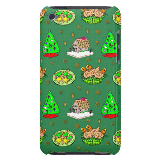 Christmas – Gingerbread Houses Frosted Cookies iPod Case-Mate Cases