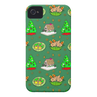 Christmas – Gingerbread Houses & Frosted Cookies iPhone 4 Case