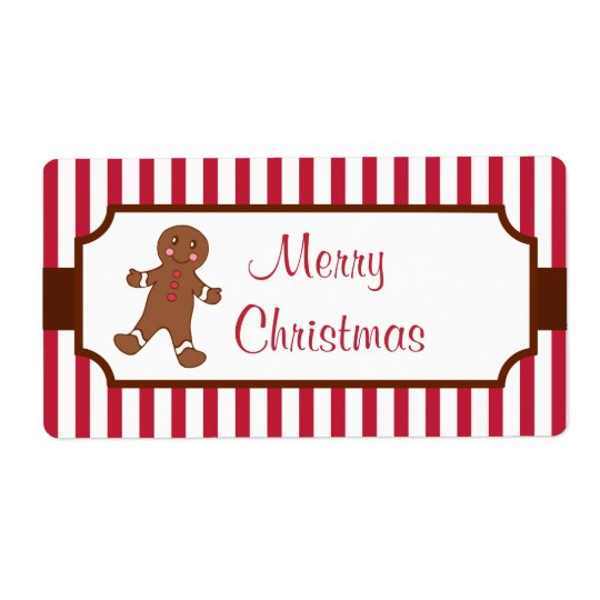 Christmas Gingerbread Labels