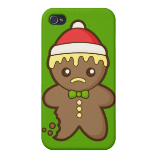 Christmas Gingerbread Man iPhone 4/4S Case