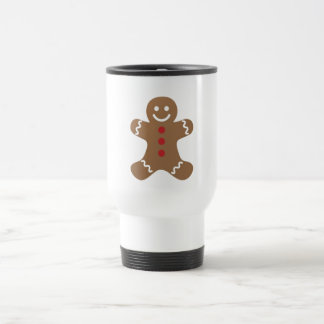 Christmas Gingerbread Man Travel Mug