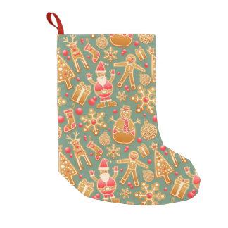 christmas gingerbread santa xmas stocking small christmas stocking