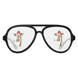 Christmas giraffe aviator sunglasses