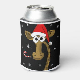 Christmas giraffe can cooler