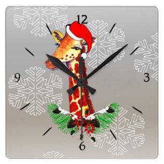 Christmas Giraffe Clock