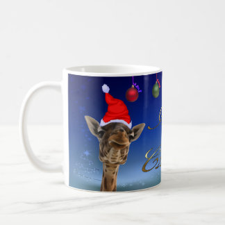 Christmas Giraffe Coffee Mug