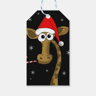 Christmas giraffe gift tags