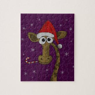 Christmas Giraffe Jigsaw Puzzle