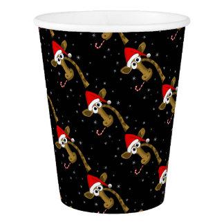 Christmas giraffe paper cup
