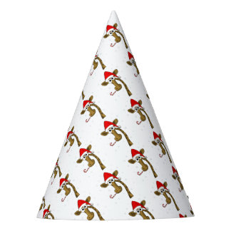Christmas giraffe party hat