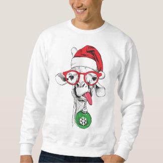 Christmas Giraffe Santa Sweatshirt