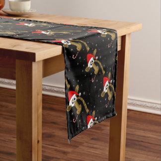 Christmas giraffe short table runner